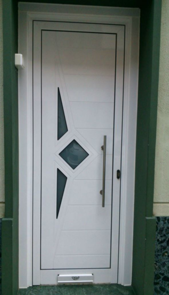 Puertas exterior metalicas puerta de entrada barmetal for Puertas de interior metalicas